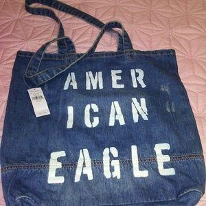 NWT American Eagle Denim Tote